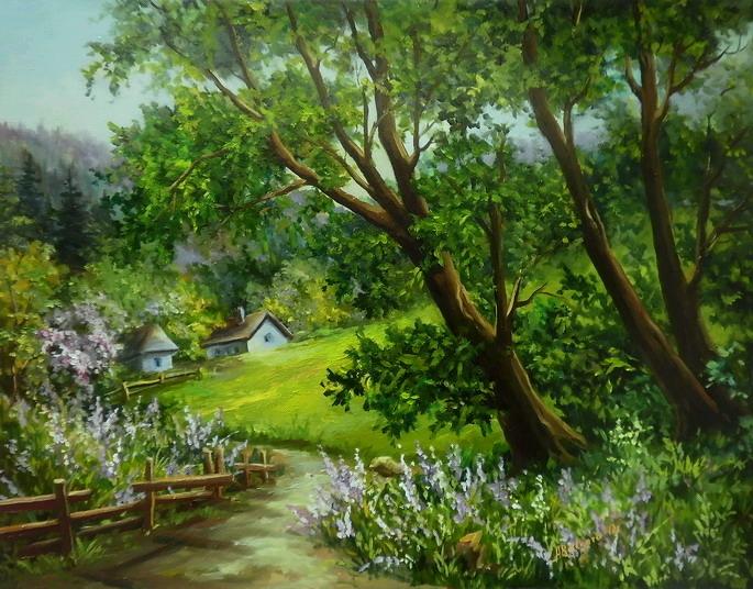 Картины на холсте пейзажи